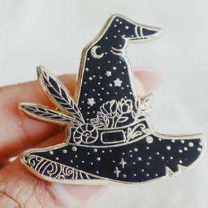 Witch Hat Bohemian Enamel Pin
